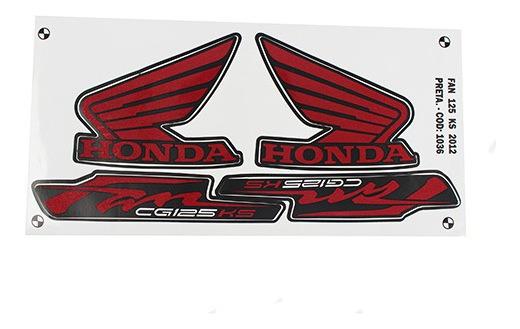 Adesivo Moto Fan125 Ks 2012 Preta