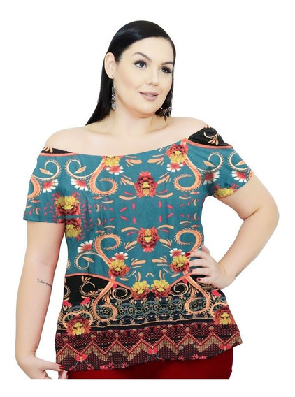 Roupa Feminina Bata Cigana De Malha Viscolycra Plus Size