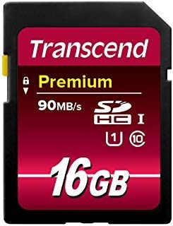 Memória Micro Sd 16gb 90 Mb/s Ultimate 600x Transcend - Novo