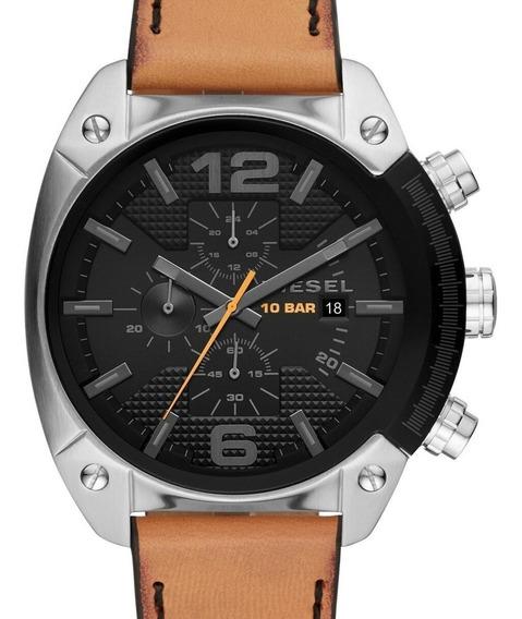 Relógio Diesel Masculino Overflow Couro - Dz4503