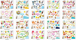 Kit Elementos Png Pretty Graphics 62 Kits Clipart Scrapbook