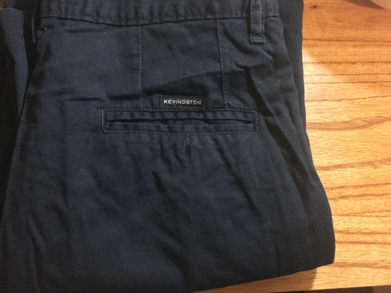 Pantalon Kevingston Gabardina Color Azul Oscuro Talle 38