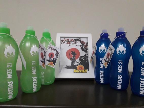 Souvenir Botellitas Personalizadas Dragon Ball - Pack Por 20