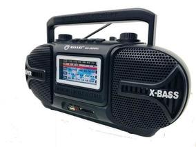 Rádio Retro Misaki Am Fm Sw Usb Recarregavel Aux Sd Pilhas