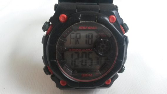 Relógio Mormaii Masculino Wave Digital Moy1538/8v Vermelho