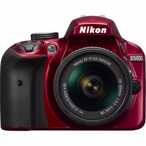 Cámara Fotográfica Nikon D3400 Con Lente 18-55mm