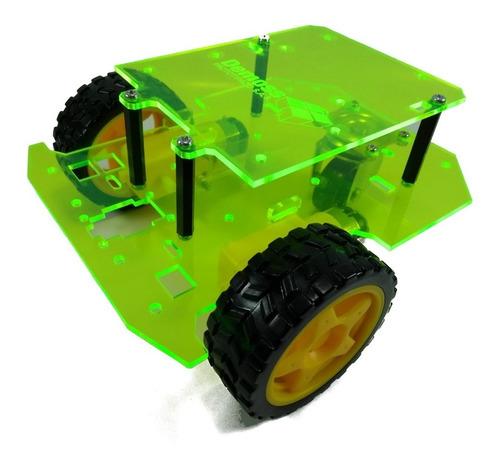 Chasis Robot - Seguidor De Linea  Robot Movil  Arduino Verde