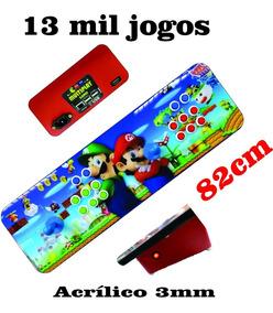 Controle Arcade Multijogos Fliperama 13 Mil Jogos Acrilico