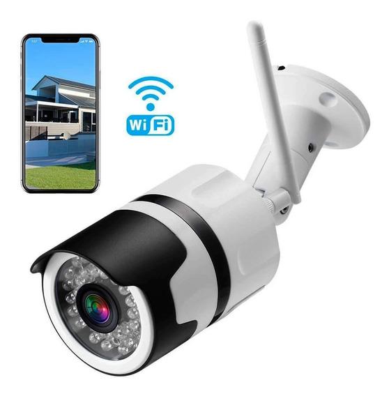 Camera Externa Ip Sem Fio Wifi Hd 2.0 Mp 1080p Cartão Sd