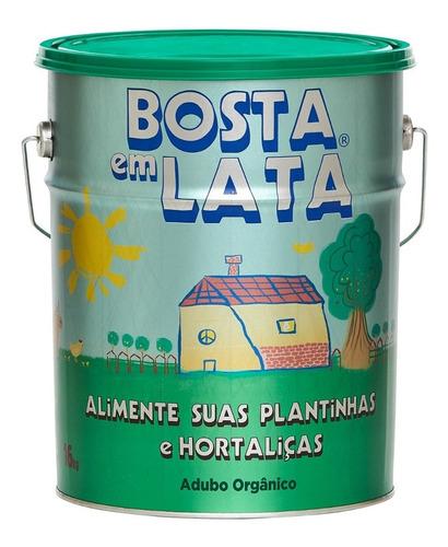 Imagem 1 de 1 de Fertilizante Orgânico Bosta Em Lata Plantas E Horta - 16 Kg