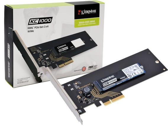 Ssd Desktop Kc1000 M.2 Hhhl Pcie Gen3x4 Nvme Kingston