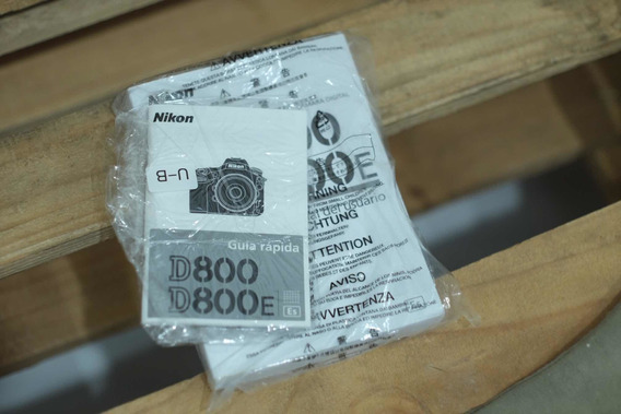 Manual Câmera Nikon D800/d800e E Manual De Bolso