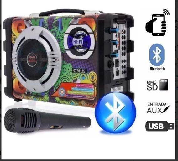 Caixa De Som Bluetooth Portátil Amplificada Frete Grátis