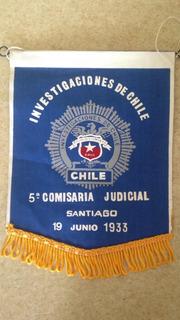 Banderin Pdi Comisaria Judicial Santiago 1933