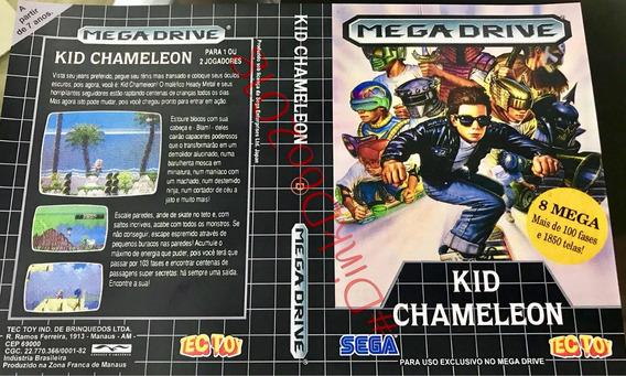 Encarte Mega Drive - Kid Chameleon - Repro