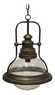 Lámpara Colgante Industrial N°1 Metal & Vidrio