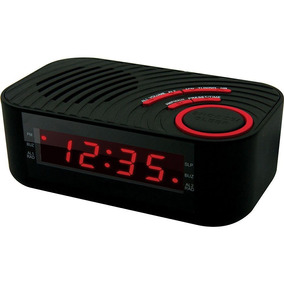 Radio Relogio Digital Am/fm C/ 2 Alarmes Entrada Aux Cbcr100
