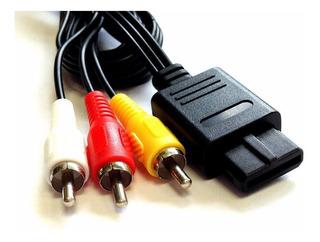 Cable A/v Rca Compatible Con Snes, Gamecube Y Nintendo 64