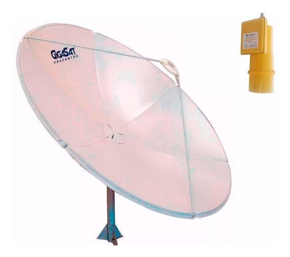 Antena Parabólica Banda C Ku 180cm + Lnbf Estendido Century