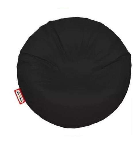 Sillon Puff Circular Grande Negro Soporta Hasta 115 Kgs