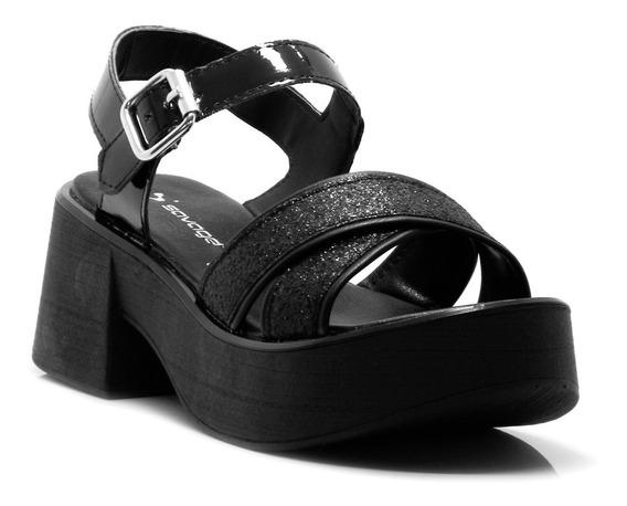 Zapatos Sandalias Mujer Negro Tachas Savage Verano