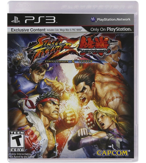 Street Fighter Vs Tekken Ps3 Mídia Física Novo Lacrado