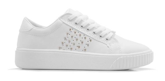 Zapatillas Mujer Sneakers Urbanas Blancas Savage Originales