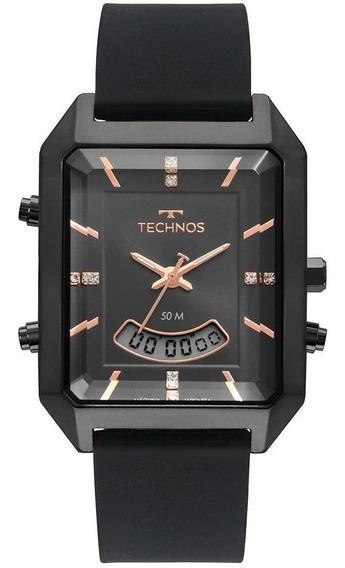 Relógio Feminino Technos Digital Preto - Original