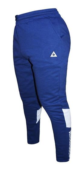 Pantalon Largo Le Coq Sportif Retro Sporty Hombre Azul