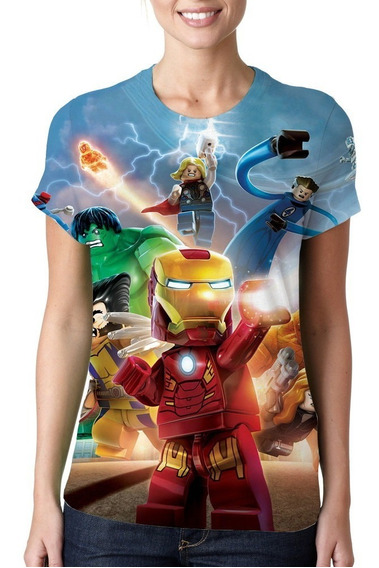 Camiseta Feminina Lego Os Vingadores - Estampa Total