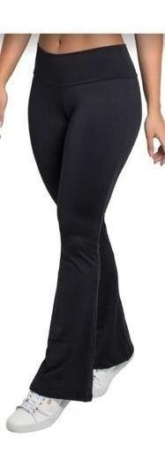 Calça Legging Forrada Inverno Flare Cintura Alta Veludo