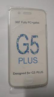 Moto G5 Plus - Capinha 360° Frente E Verso - Transparente