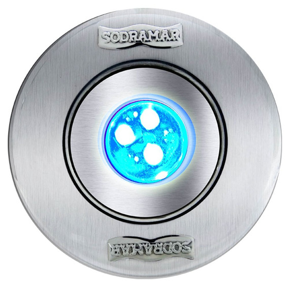 Luminária Hiper Led Rgb 9 W - Corpo Abs - Frontal Inox