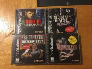 Resident Evil 1 2 3 Nemesis Survivor Ps1 Ps2 Ps3 Lote Capcom