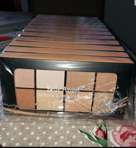 12 Paleta Contorno E Iluminador Bronzer Bella Angel T018