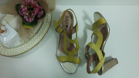 Sandália De Salto Amarela Ramarim