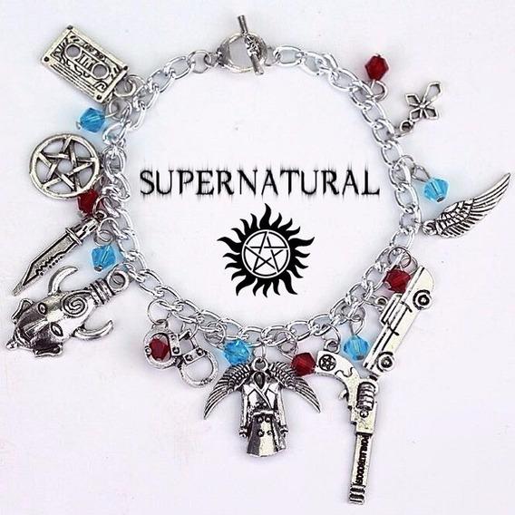 Pulseira Bracelete Sobrenatural Supernatural Charm Berloques
