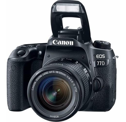Câmera Canon 77d + 18-55mm F/3.5-5.6 Stm - Loja Platinum