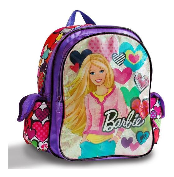 Mochila Espalda Escolar Niñas Barbie 12 Pulgadas Original
