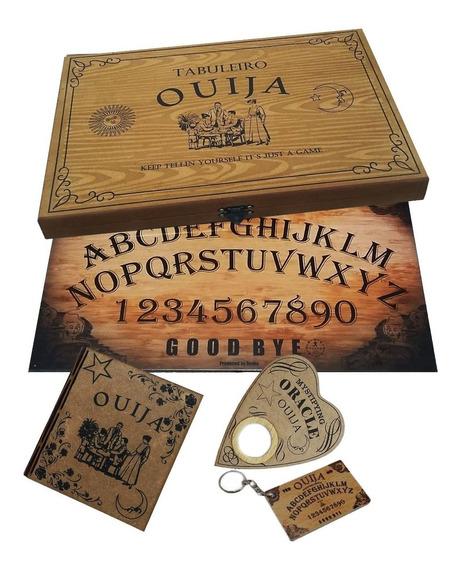Tabuleiro Ouija Madeira Com Caixa Impresso.