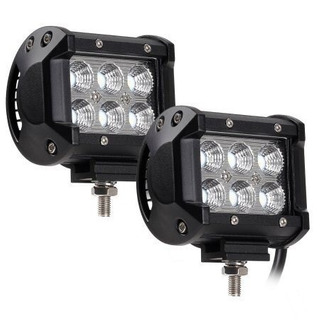 Faro Luces Led Carro Camioneta Moto 4 36w Ip67 4x4 ( 10 )