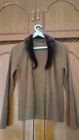 Jaqueta De Inverno Caramelo Com Pele Marrom, Elegante, G