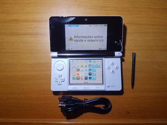 3ds Branco Desbloqueado + Cartão 32gb N14