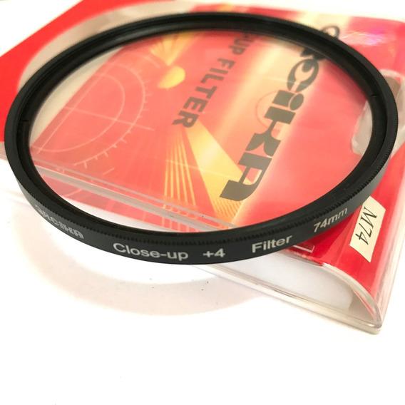 Filtro Close Up 74mm +4 Greika Close Up P/ Fotografia Macro