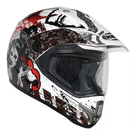 Capacete Helt Cross Vision Red Motocross Trilha Vermelho