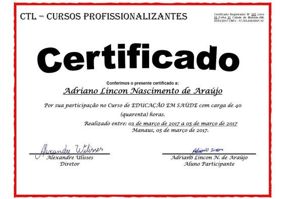 Cursos Profissionalizantes - 10 Certificados