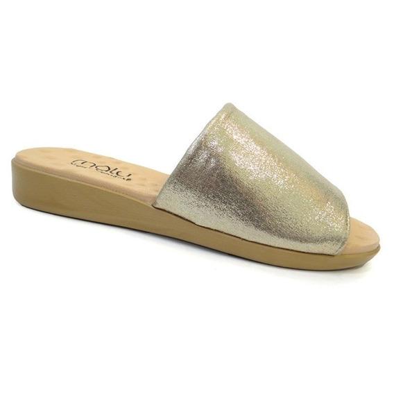 Tamanco Feminino Conforto 14015 - Malu (06) - Dourado