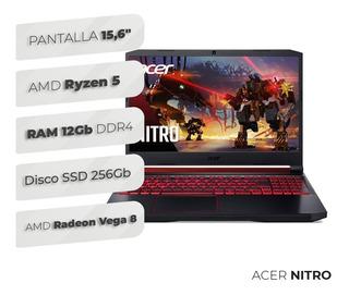 Notebook Acer Nitro I5 9na 8gb Ssd256 Gtx1650 Gamer C/envío