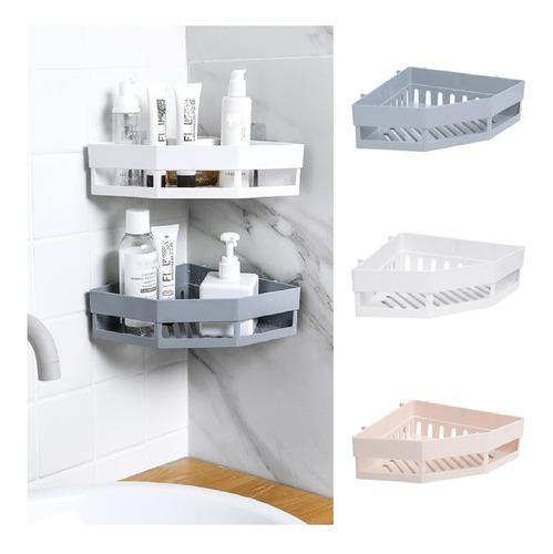 Porta Shampoo E Sabonete Suporte De Canto Parede Banheiro