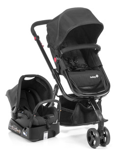 Carrinho De Bebê Travel System Mobi Full Black Safety 1st